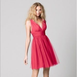Watters WTOO 333 Tulle V-Neck Dress 0 M3003